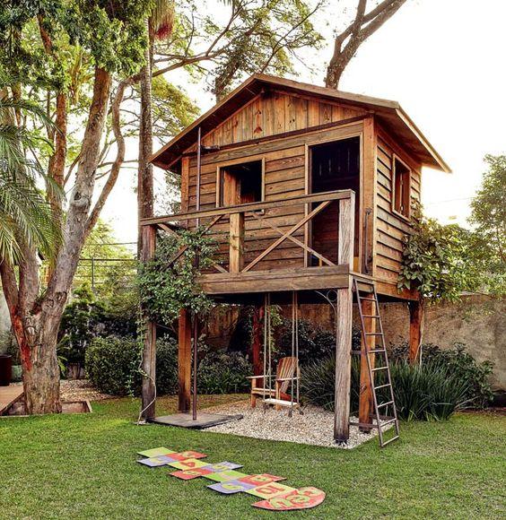 casa de arvore jardim