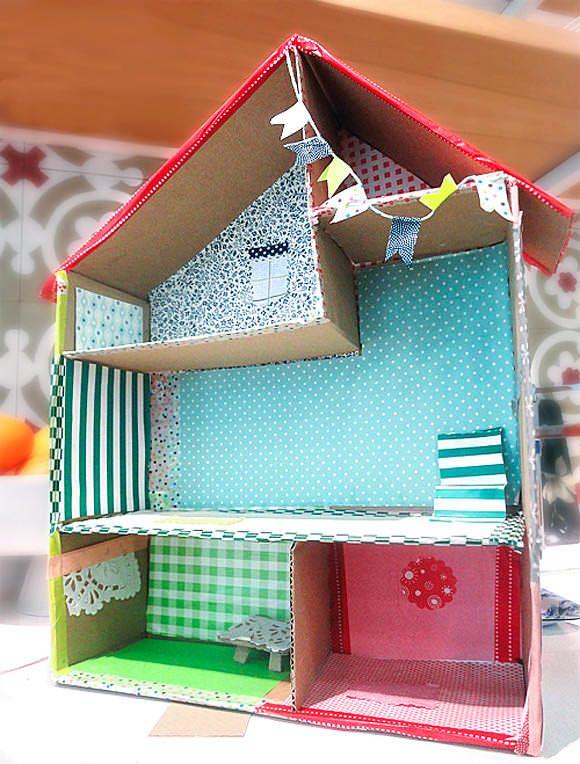 casa de bonecas papel
