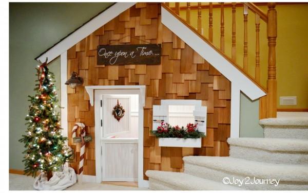 casa de brincar de madeira