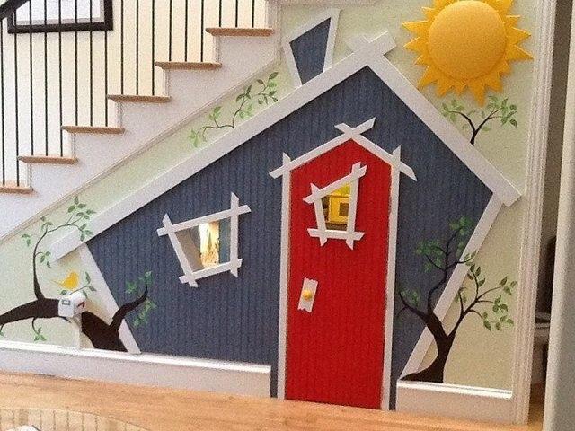 casa de brincar escadas