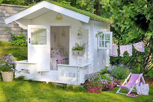 casa de jardim em madeira
