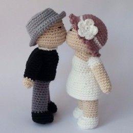 casamento croche noivinhos 1