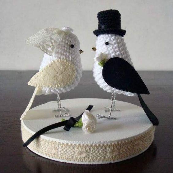casamento croche noivinhos