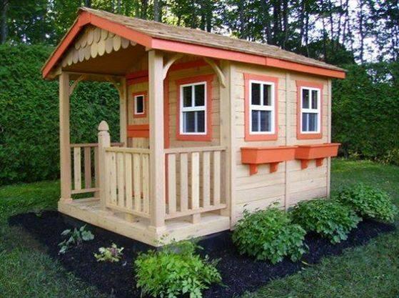casinha madeira jardim