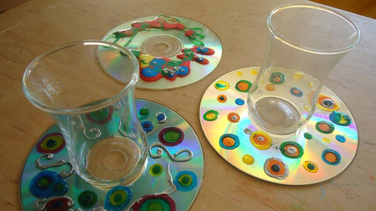 cd reciclado base de copos