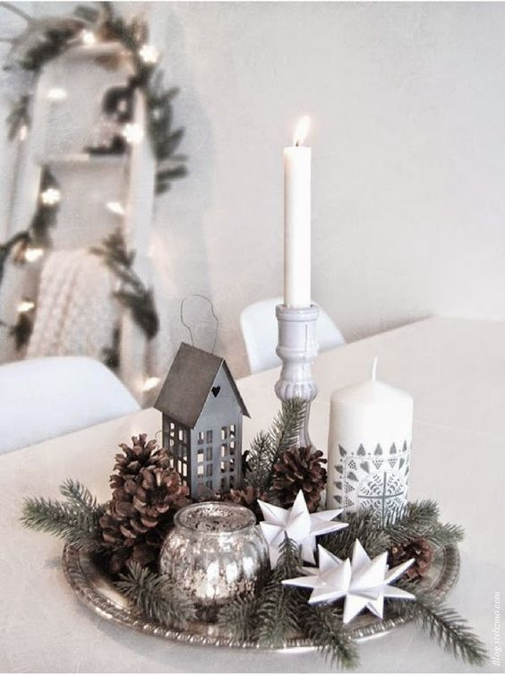 centro mesa natal velas 12