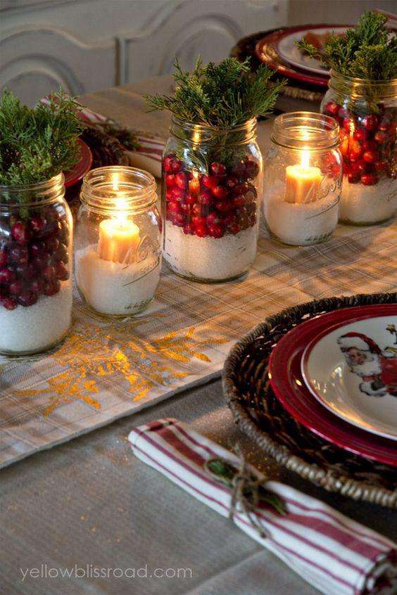 centro mesa natal velas 5