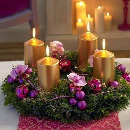 centro mesa natal velas 6