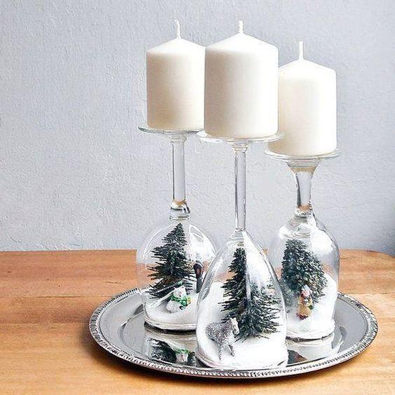 centro mesa natal velas 9