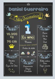 chalkboard placa festa aniversario 1