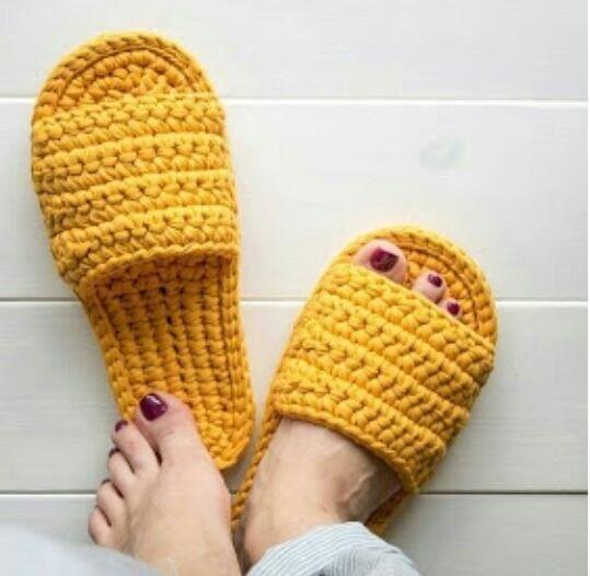 chinelos trapilho croche 5
