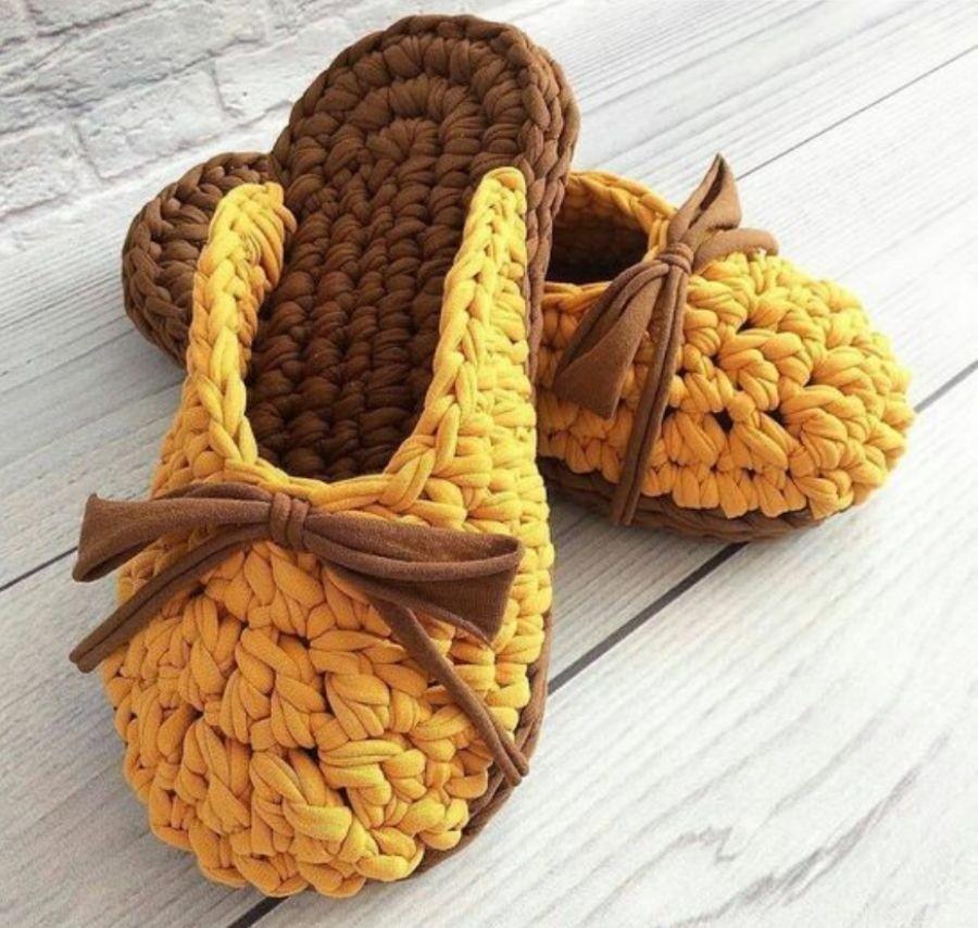 chinelos trapilho croche 7