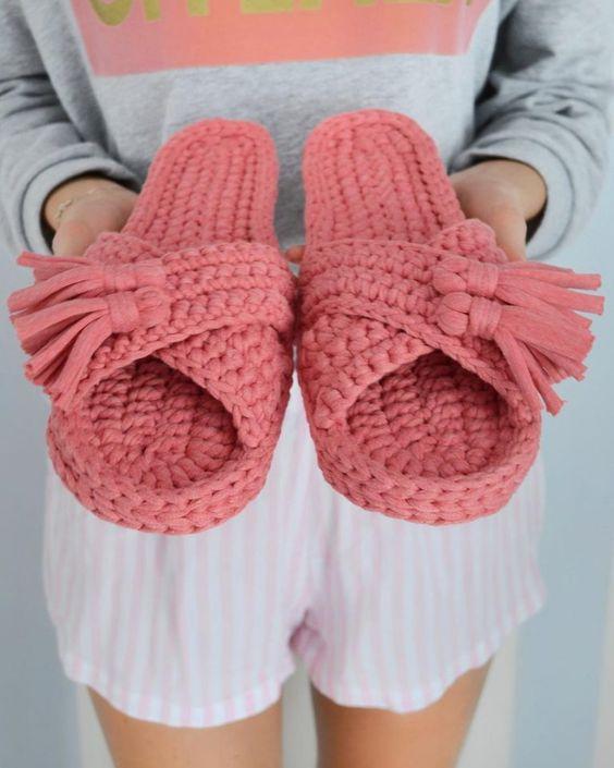 chinelos trapilho croche 8