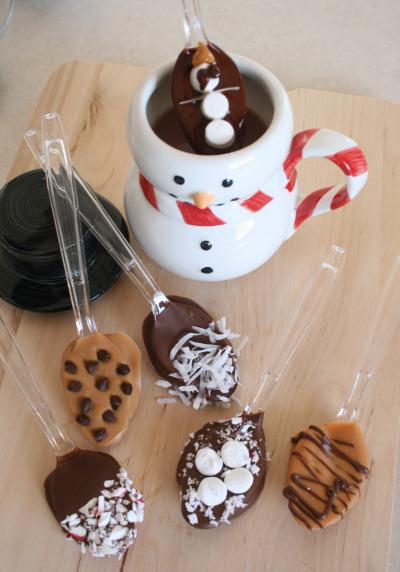 chocolate nas colheres festa
