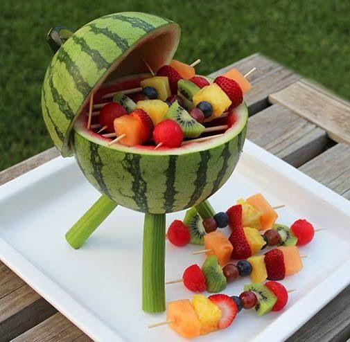 churrasco de melancia
