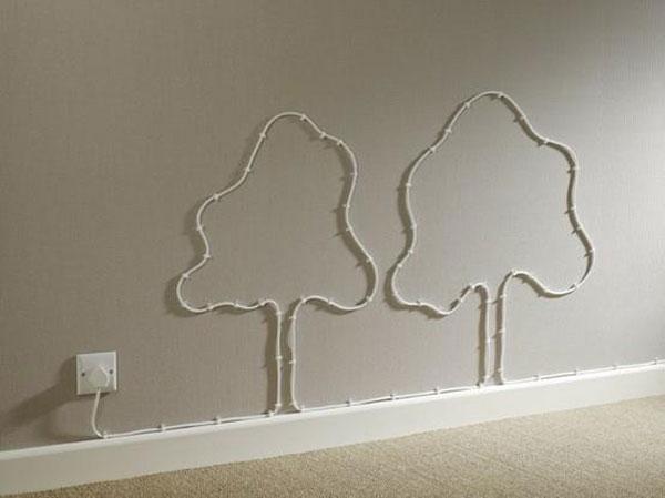 como esconder fios parede
