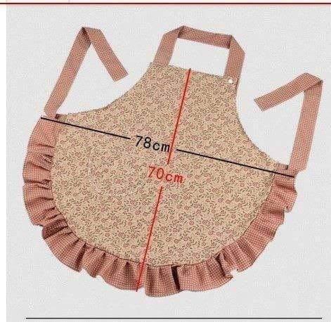 como fazer avental cozinha medidas