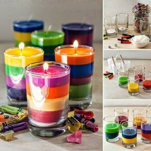 como fazer velas coloridas