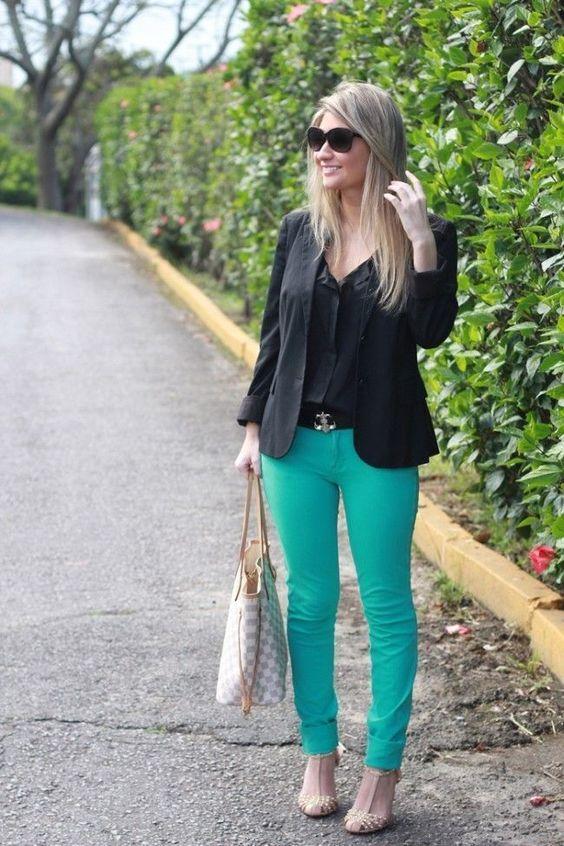 como usar calcas coloridas 6