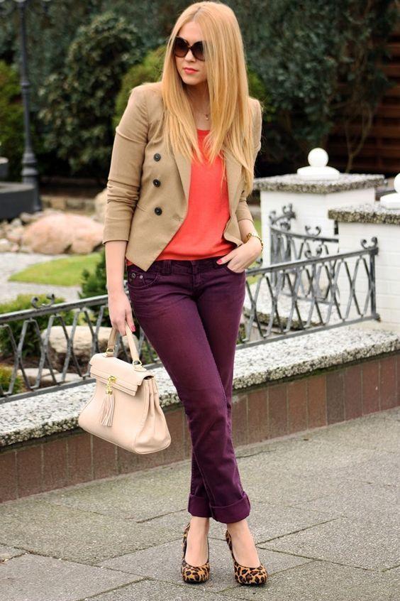como usar calcas coloridas 7