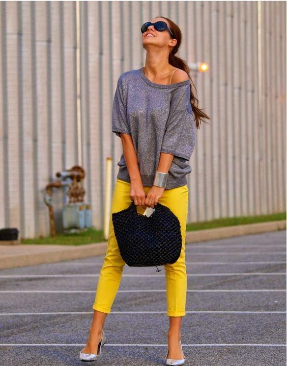 como usar calcas coloridas