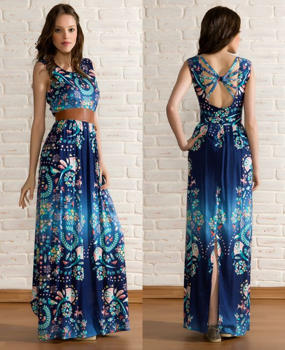 como usar vestidos longos verao 2
