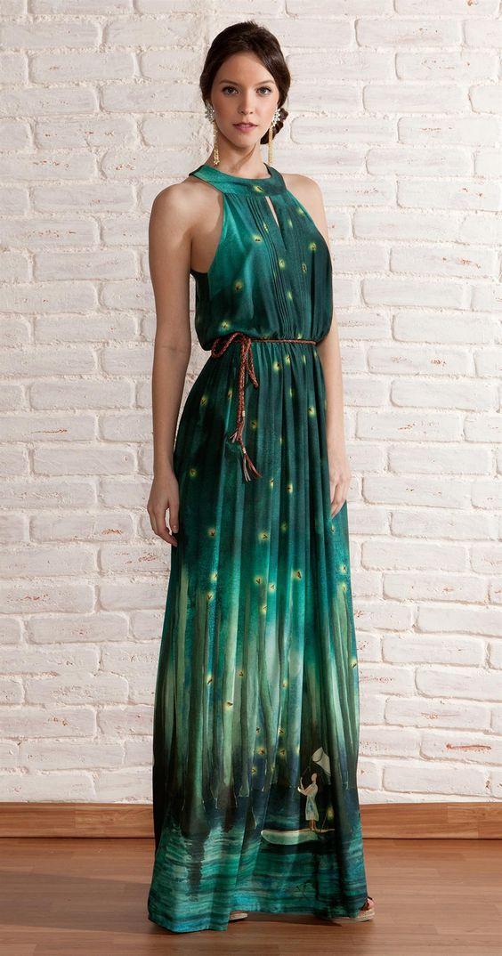 como usar vestidos longos verao 3