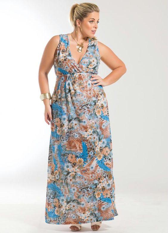como usar vestidos longos verao plus size 1