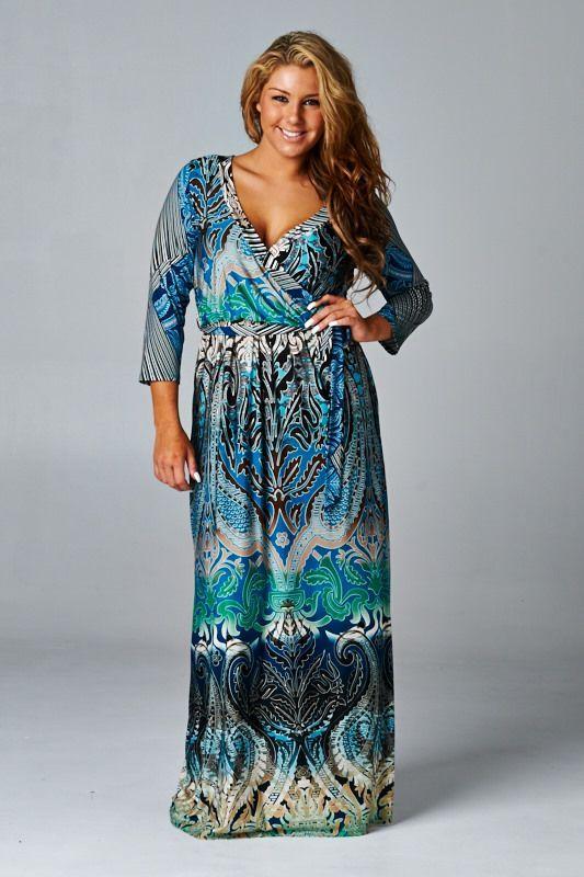 como usar vestidos longos verao plus size 2