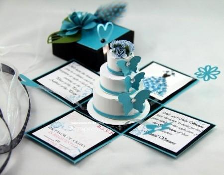 convites de casamento tridimensionais 3