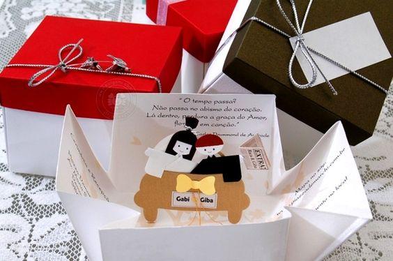 convites de casamento tridimensionais