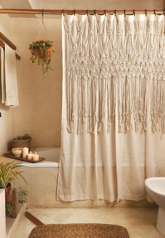 cortinas banheiro croche 1