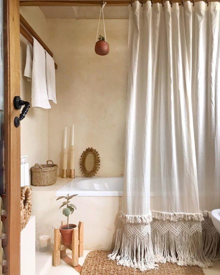 cortinas banheiro croche