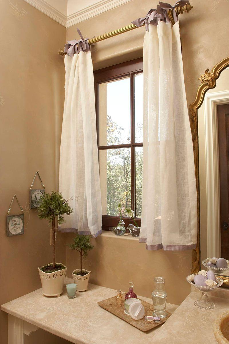 cortinas banheiro tecido