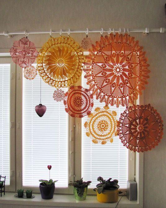 cortinas cozinha croche