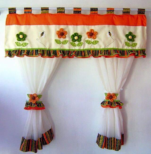 cortinas para a cozinha decoraçao