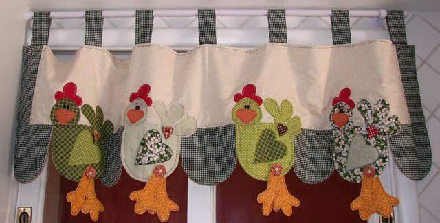 cortinas para a cozinha