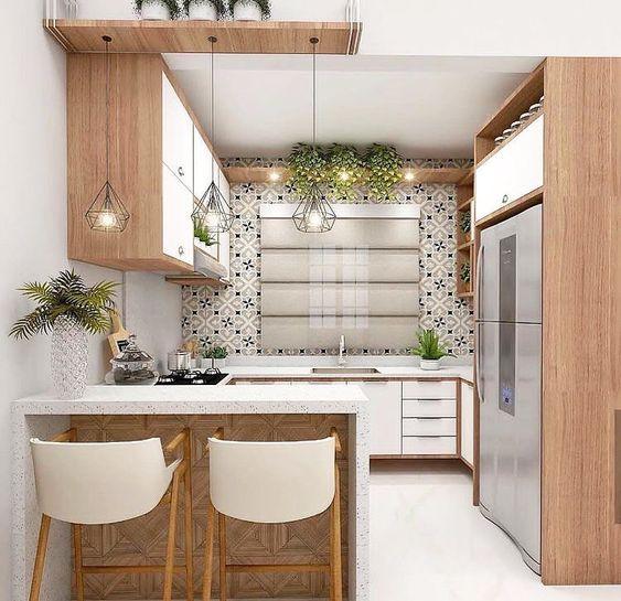 cozinha pequena decorada ideias