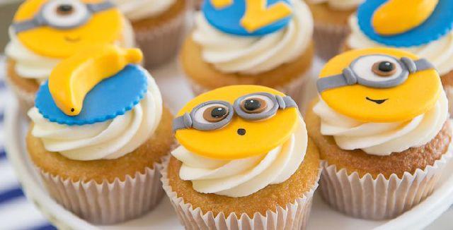 cupcakes festa minion
