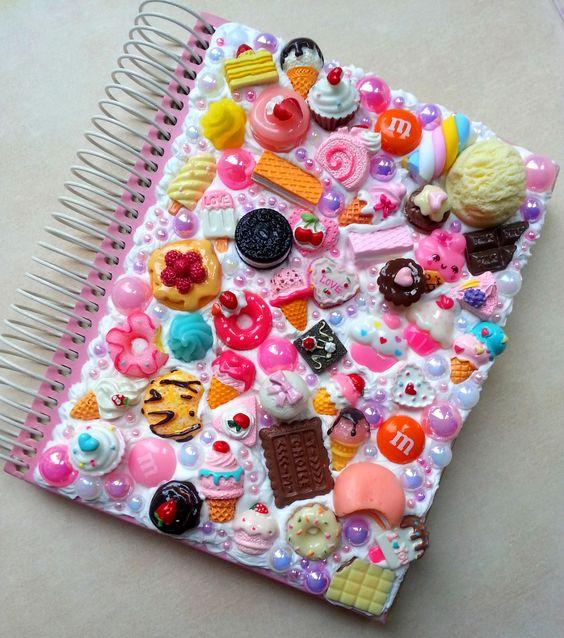 customizar cadernos adesivos