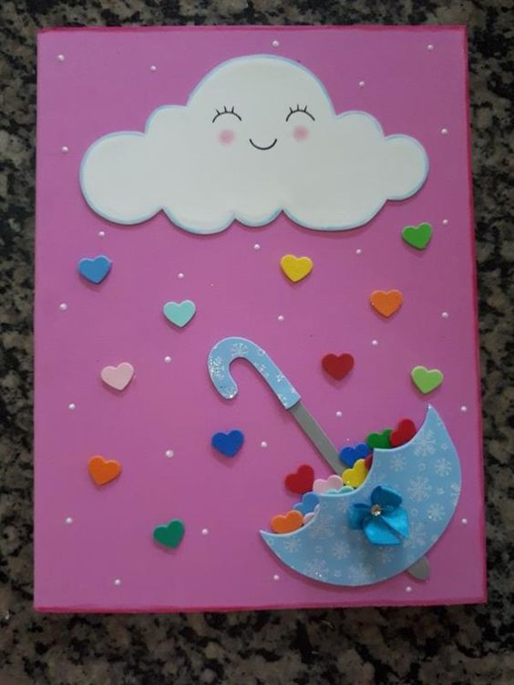 customizar cadernos eva chuva amor