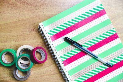 customizar cadernos fita adesiva