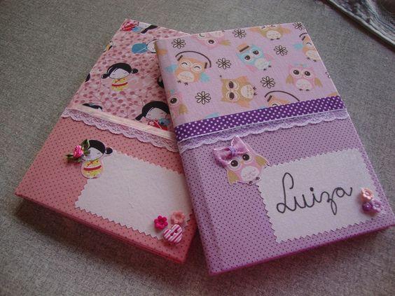 customizar cadernos tecido