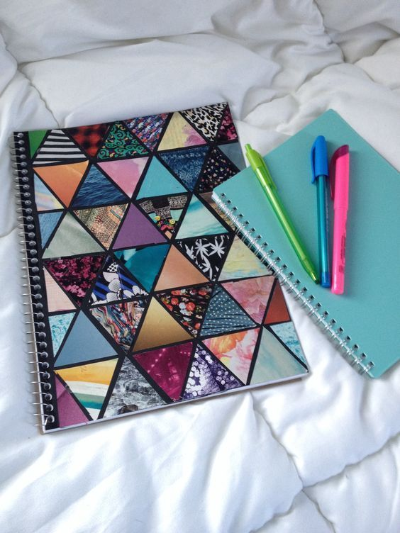 customizar cadernos tumblr geometrico
