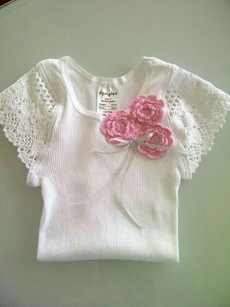 customizar camiseta croche aplicacao flor