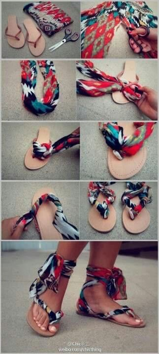 customizar chinelos diy