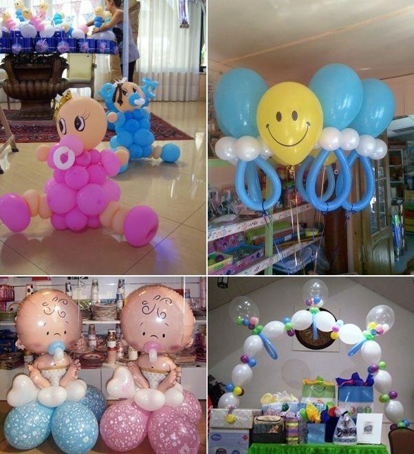 decoração baloes cha bebe