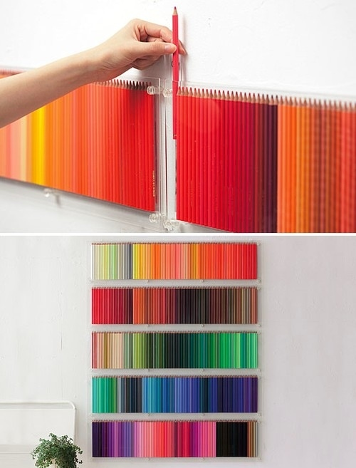decoração com lapis de cor