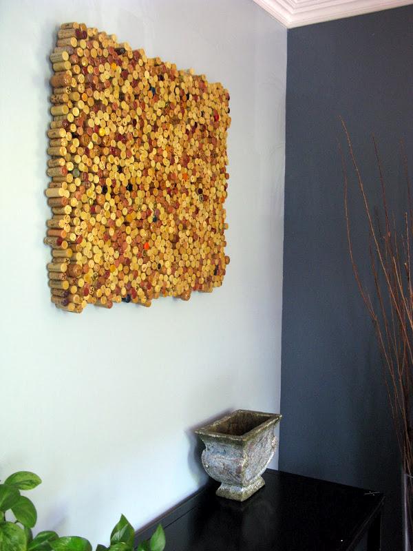 decoração com rolhas de cortiça