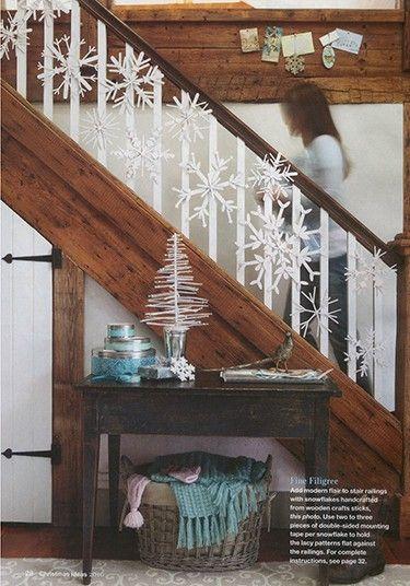 decoração escadas com luzes